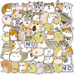 Sticker chuột hamster nhựa PVC không thấm nước, dán nón bảo hiểm, laptop, điện thoại, Vali, xe, Cực COOL #160