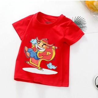Áo tết cho bé trai, bé gái 6kg - 28kg - đồ tết cho bé trai, bé gái 2021 - quần áo trẻ em tết Tân Sửu - áo thun tết - Màu Đỏ - AOTET_DO thumbnail