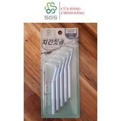 Bàn chải kẽ răng SGS loại L 5 cái/vỉ nhập khẩu Hàn Quốc - Size 1.0 mm