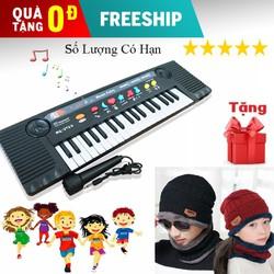 Đàn đồ chơi cho bé, Đàn piano điện tử kèm mic hát Tặng set mũ len nam nữ kèm khăn quàng cổ lót lông