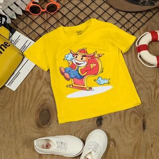 Áo tết Màu Vàng cho bé trai, bé gái 6kg - 28kg - đồ tết cho bé trai, bé gái 2021 - quần áo trẻ em tết Tân Sửu - áo thun tết - AOTET_VANG thumbnail