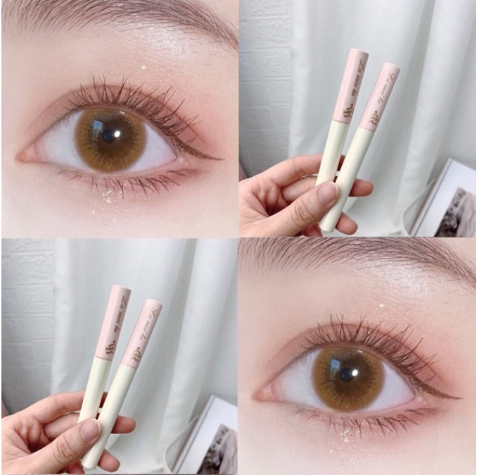 Mascara Trang Điểm mắt Siêu Mảnh Tơi mi Lame vỏ Hồng DS