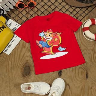 Áo tết cho bé trai, bé gái 6kg - 28kg - đồ tết cho bé trai, bé gái 2021 - Màu Đỏ - quần áo trẻ em tết Tân Sửu - áo thun tết - AOTET_DO thumbnail