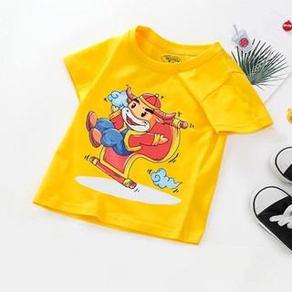 Áo tết cho bé trai, bé gái 6kg - 28kg - Màu Vàng - đồ tết cho bé trai, bé gái 2021 - quần áo trẻ em tết Tân Sửu - áo thun tết - AOTET_VANG thumbnail