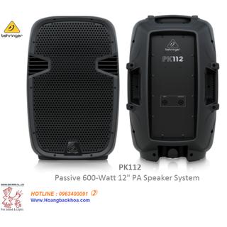 Loa Passive Behringer PK112 - Hệ thông PA - 2 Ways-12 - 600Watts - PK112 thumbnail
