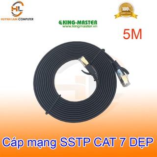 Cáp mạng SSTP CAT7 5m KingMaster KC713 (dẹp) tốc độ lên đến 10.2Gbps 600Mhz - Hãng phân phối - 100121KC713 thumbnail