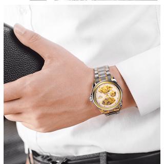 Đồng hồ nam máy cơ Bos Automatic dây kim loại - Mặt trắng dây demi [ĐƯỢC KIỂM HÀNG] - 39601853 thumbnail
