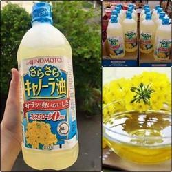 Dầu ăn hạt cải Ajmoto Nhật bản date 01\10\2021