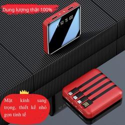 [Mua 1 Được 4]Pin Sạc Dự Phòng 20.000mAh Có Sẵn Dây Sạc Điện Thoại Iphone Android Sạc Dự Phòng Siêu Mỏng Tích Hợp 4 Đầu