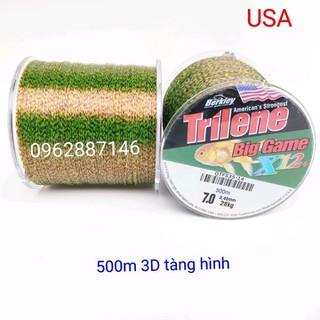 cước câu cá cước mỹ triline 3D tàng hình 500m siêu bền - cước câu cá cước mỹ triline 3D tàng hình x12x thumbnail