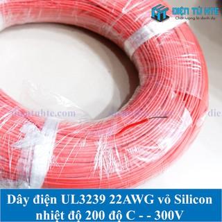 Dây điện đơn Silicon chịu nhiệt UL3239 22AWG 0.32mm2 -5 mét - ACC0079-5 thumbnail