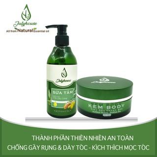 Bộ chăm sóc da body Sữa tắm tinh chất Gừng 300ml và Kem body Chanh sần 200g JULYHOUSE - COS.SHO300.BODY200 thumbnail