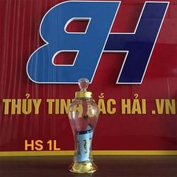 Bình Thủy Tinh Và Hũ Thủy Tinh Ngâm Rượu Cao Cấp SX tại Việt Nam Bình Ngâm Hình Sâm 0.45 Lít – Thủy Tinh Bắc Hải