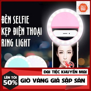 Đèn led chụp ảnh selfie tự sướng kẹp điện thoại ring light hỗ trợ quay tiktok livestream dùng pin - bb37 cfcg thumbnail