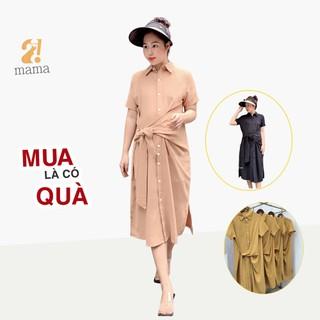 Đầm váy bầu dự tiệc công sở 2MAMA thiết kế buộc vạt sang chảnh - V12 - V12 thumbnail