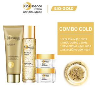 Bộ Chăm sóc da Bio-Gold (Sữa rửa mặt 100gr + Nước dưỡng 150ml + Kem dưỡng ban ngày 40gr + Kem dưỡng ban đêm 40gr) - CB02WP200123 thumbnail
