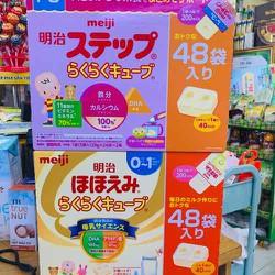 Sữa bột Meiji số 0 và số 9 24x27G (dạng thanh)