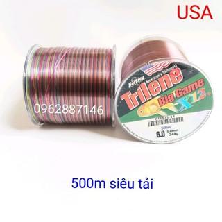 cước câu cá cước mỹ triline 500m 7 màu x12 - cước câu cá cước mỹ triline 500m 7 màu x12 thumbnail