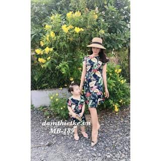 Đầm mẹ và bé hoa lá-Hàng thiết kế cao cấp - MB189 thumbnail