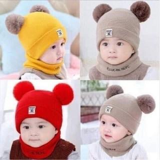 Mũ len trẻ em kèm khăn - Khăn len kèm mũ - Mũ len trẻ em kèm khăn - Khăn len kèm mũ thumbnail