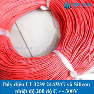 Dây điện đơn Silicon chịu nhiệt UL3239 24AWG - 5 mét - ACC0080-5 thumbnail