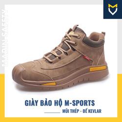 Giày bảo hộ lao động thể thao M-Sports chống đâm xuyên, chống nước