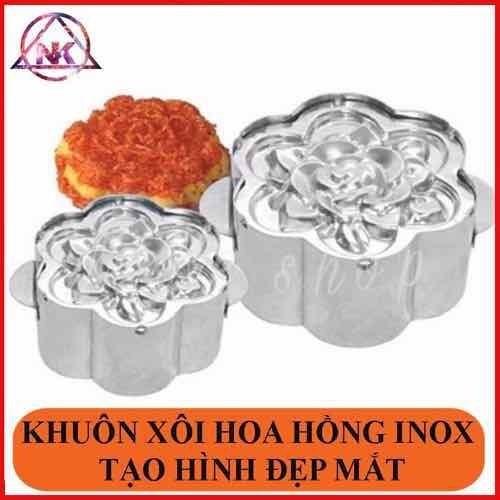 Khuôn xôi Hoa Hồng inox bảo vệ sức khỏe, Khuôn loại 1 dày đẹp, tạo hình rõ nét - Siêu đẹp