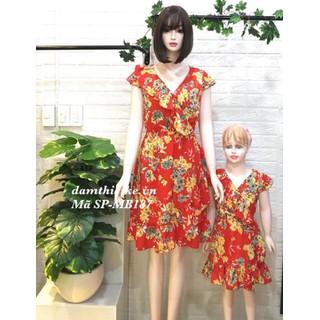 Đầm đôi mẹ và bé hoa mai vàng_Hàng thiết kế_Đủ size - Đầm đôi mẹ và bé hoa mai vàng thumbnail