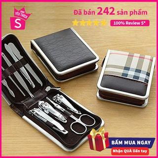Bộ dụng cụ cắt dũa móng tay 9 món hộp da - kìm bấm móng tay - 5656920513 thumbnail