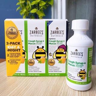 [ Date 09.2020 ] Siro Zarbee Cho Bé Từ 12 Tháng Tuổi Của Mỹ 118ml - 1 chai lẻ tách set - Siro Zarbee thumbnail