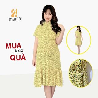 Đầm váy bầu dự tiệc 2MAMA đuôi cá hoa nhí màu vàng - V15 - V15 thumbnail