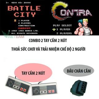 Bộ tay cầm điều khiển chơi game 2 nút cho coolbaby TV cầm tay 9 pin - dc4161 thumbnail