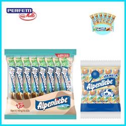 Combo 1 gói Kẹo mút Alpenliebe Hương Sữa Caramen Gói 50 Que và 1 gói Kẹo Alpenliebe Vị Hồng Trà Sữa 16 thỏi
