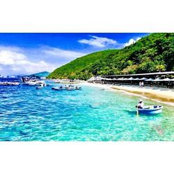 Nha Trang [E-voucher] Tour 4 đảo và lặn biển 1 ngày - Trọn gói Xe + Canoe + Ăn trưa + Vé tham quan + Lặn biển