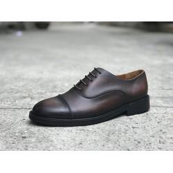 Giày tây nam da bò công sở cao cấp oxford captoe