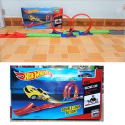 Bộ đường đua xe hotwheels - Đồ chơi lắp ghép cho trẻ em Hot Wheel car