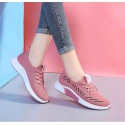 Giày bốt nữ vải kiểu sneaker dây buộc,cao 2,5cm có khóa kéo đế bằng, bốt cổ cao trên mắc cá chân và có cổ giày ôm cổ chân ĐEN B002D