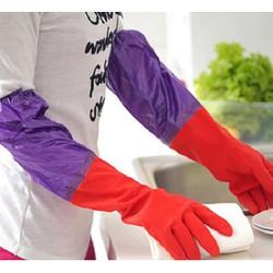 Găng tay cao su lót nỉ rửa bát giặt quần áo tiện dụng