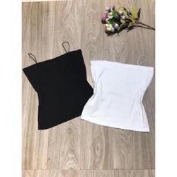 Áo Bra 2 dây - Áo quây ngực đen trắng - Áo Bra hai dây cotton (không đệm ngực)