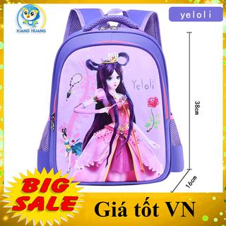 [LỚP 1-3] Balo cho bé gái tiểu học siêu đẹp size 38cm hình nhân vật hoạt hình Yeloli yêu thích của con yêu, cặp sách học sinh cấp 1 chống thấm nước, 2 ngăn - BLYELOLI thumbnail