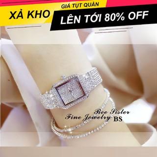 [ Xả kho nghỉ tết ] Đồng hồ nữ BS BEE SISTER 0280 Đính đá siêu đẹp , sang trọng , lịch sự (mặt vuông) - Beesister BS (mặt vuông) thumbnail