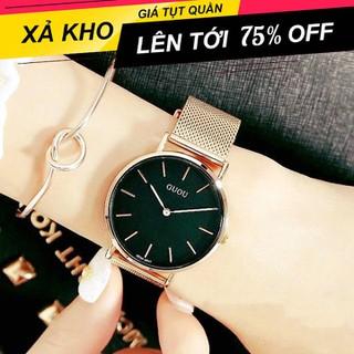 [ Xả Kho Cuối Năm ] Đồng hồ nam - Đồng hồ nữ Guou GL Dây lụa kim loại sang trọng , trẻ trung - Đồng hồ đôi - Guou GL thumbnail