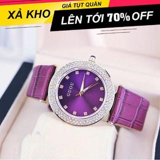 [ Xả Kho Cuối Năm ] Đồng hồ nữ Guou GD mặt đính đá Dây da thời trang sang trọng lịch sự - Guou GD5.5 thumbnail