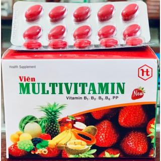 Multivitamin - Giúp bổ sung Vitamin B1, B2, B5,B6,PP, tăng cường bồi bổ sức khỏe- hộp 100 viên - Viên uống Vitamin thumbnail