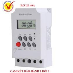 Thiết bị hẹn giờ bật tắt đèn đường máy bơm nước công suất lớn 3000W 25A 220V KG316T PIN TỰ SẠC MẪU MỚI 2021 ĐỘ BỀN CAO HƠN công tắc hẹn giờ kg316t timer hẹn giờ điện tử