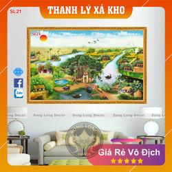 Tranh Dán Tường Làng Quê Việt Nam - SL21-Tranh 3d Đồng quê - Song Long Decor