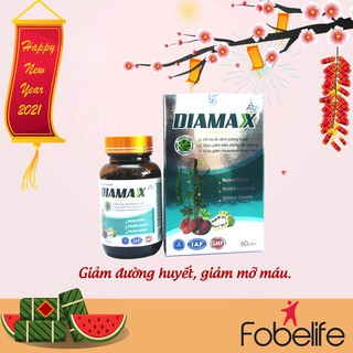 DIAMAX- Hỗ trợ ổn định đường huyết và giảm mỡ trong máu- Lọ 60 viên. - TPDX0001 thumbnail