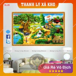 Tranh Dán Tường Làng Quê Việt Nam - SL20-Tranh 3d Đồng quê - Song Long Decor