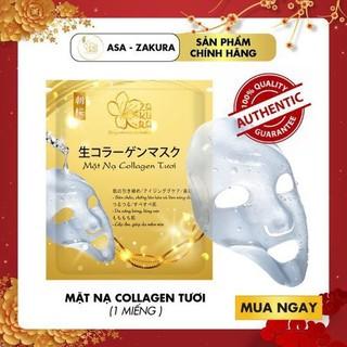 Mặt nạ collagen tươi Asa Zakura - Dưỡng trắng căng bóng làn da TẶNG 1 Chai Gel Rửa Tay Khô 60ml - MNC-ASA thumbnail