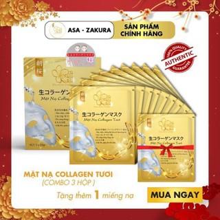 Combo 9 Túi Mặt Nạ Collagen Tươi dưỡng da Nhật Bản chống lão hóa, trắng sáng da và giúp da mềm mịn săn chắc - Tặng 1 Túi Mặt Nạ Collagen - CB9MN-ASA thumbnail